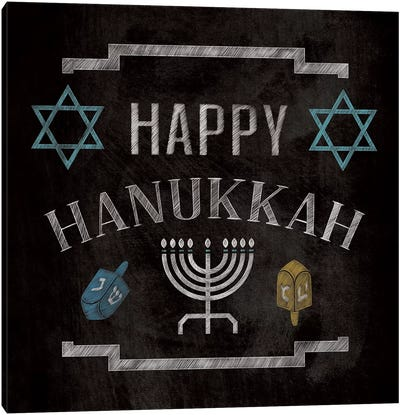 Happy Hanukkah Canvas Art Print