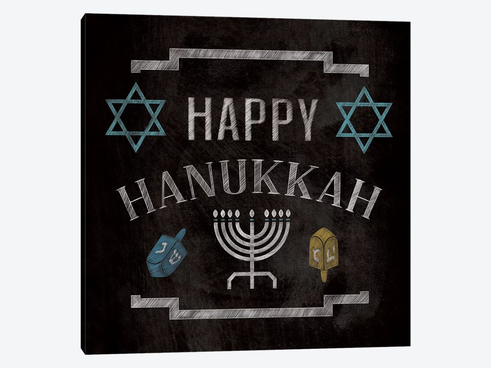 Happy Hanukkah by 5by5collective 1-piece Art Print