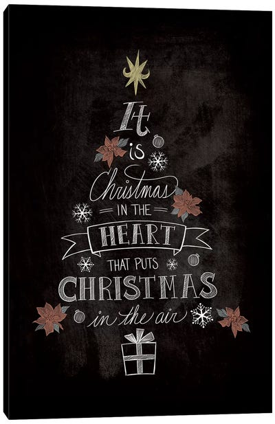 It Is Christmas Canvas Art Print