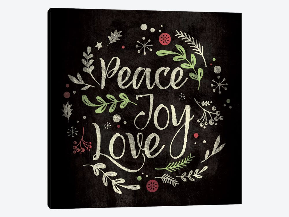 Peace Joy Love by 5by5collective 1-piece Canvas Artwork