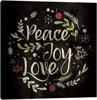Peace Joy Love Canvas Art Print
