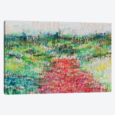 Poppy Field Canvas Print #WSL102} by Wayne Sleeth Canvas Print