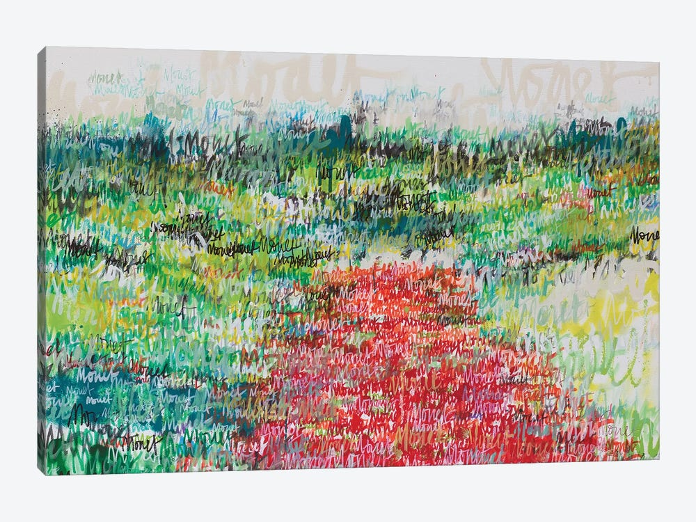 Monet Monet Monet (Poppy Field) by Wayne Sleeth 1-piece Canvas Wall Art