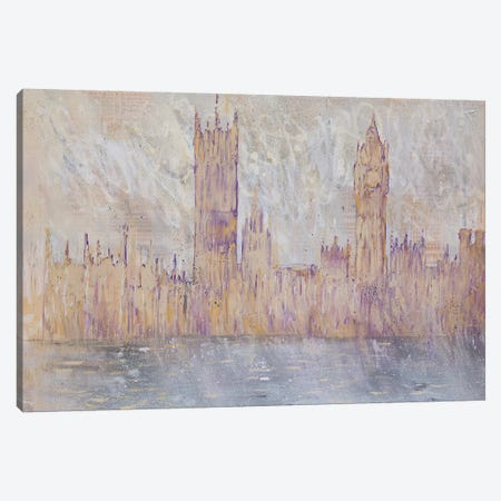 Westminster, Gold Canvas Print #WSL105} by Wayne Sleeth Canvas Art
