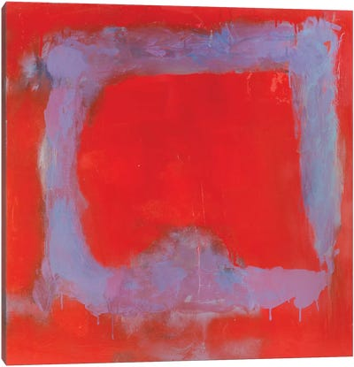 Composition In Red Canvas Art Print