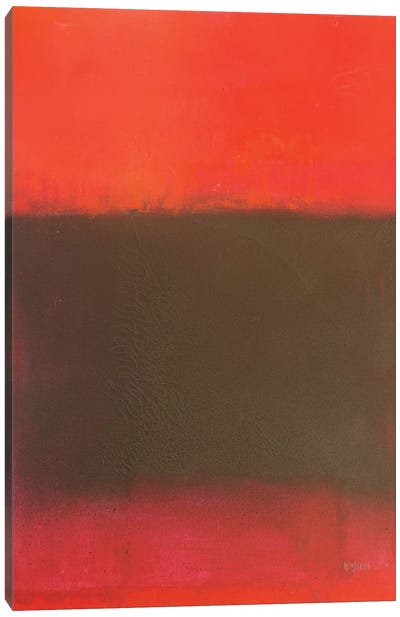 Colour Fields Series: Composition In Reds And Black Canvas Art Print