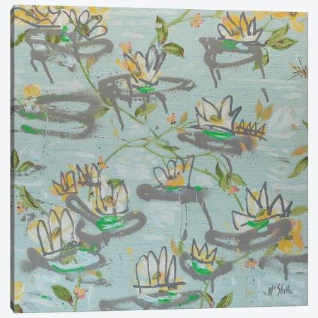 Waterlilies Canvas Print #WSL123} by Wayne Sleeth Canvas Art Print