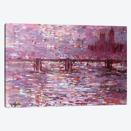 Financial Times (Bridge-Building, after Monet) Canvas Print #WSL136} by Wayne Sleeth Canvas Print