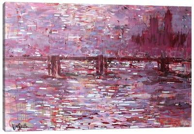 Financial Times (Bridge-Building, after Monet) Canvas Art Print