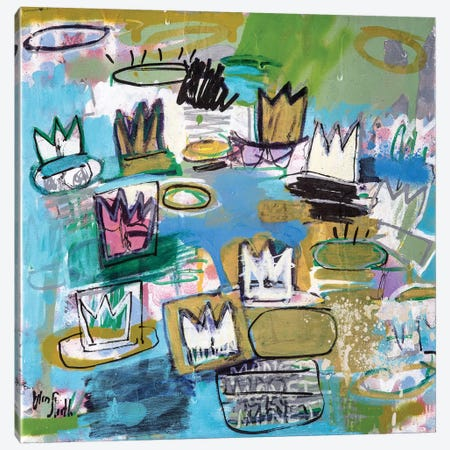 Basquiat Nymphéas  (No. 18) Canvas Print #WSL14} by Wayne Sleeth Canvas Artwork