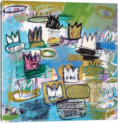 Monet Monet Monet Series: Les Nympheas de Basquiat (No. 34) Canvas Art Print