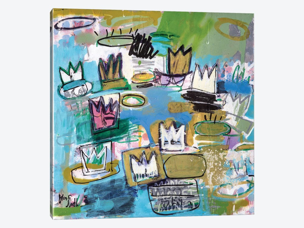 Les Nympheas de Basquiat (No. 34) by Wayne Sleeth 1-piece Canvas Print