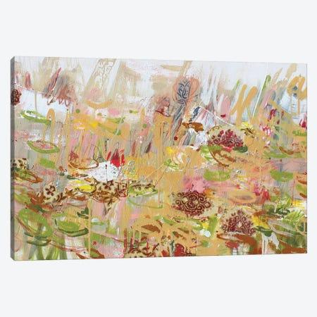 Giverny Au Printemps (Spring) Canvas Print #WSL160} by Wayne Sleeth Art Print