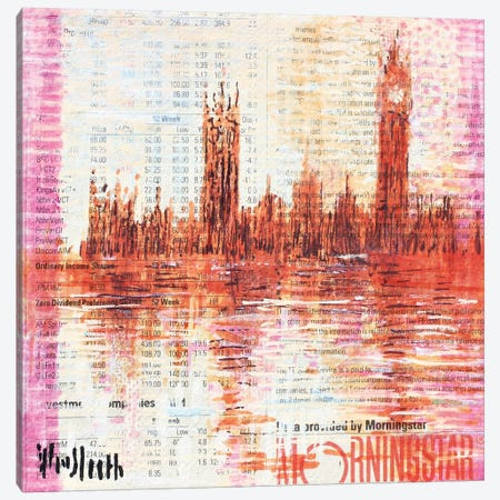 Westminster, The Colour Of Monet (Ten Pounds) Canvas Print #WSL164} by Wayne Sleeth Canvas Art