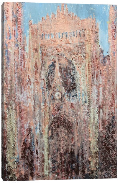 Rouen Cathedral In Lace Canvas Art Print