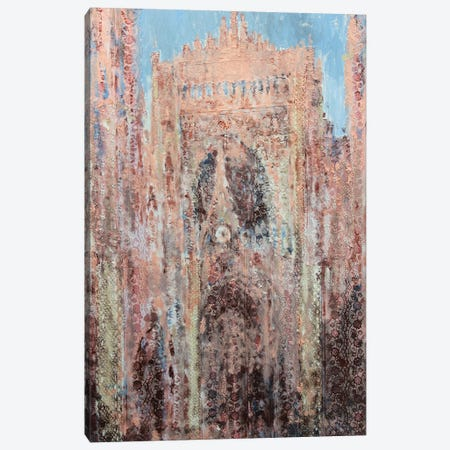 Rouen Cathedral In Lace Canvas Print #WSL184} by Wayne Sleeth Canvas Artwork