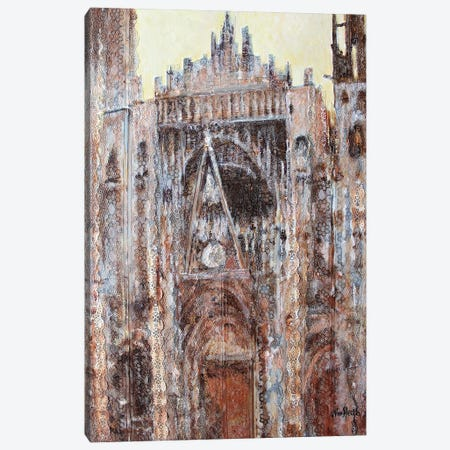 Rouen Cathedral In Lace N°2 Canvas Print #WSL191} by Wayne Sleeth Canvas Art