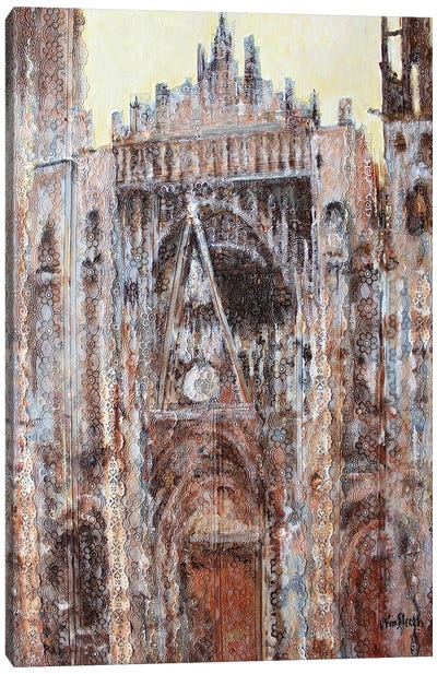 Rouen Cathedral In Lace N°2 Canvas Art Print