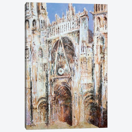 Rouen Cathedral In Lace N°3 (Morning) Canvas Print #WSL192} by Wayne Sleeth Canvas Wall Art
