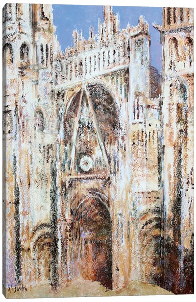 Rouen Cathedral In Lace N°3 (Morning) Canvas Art Print