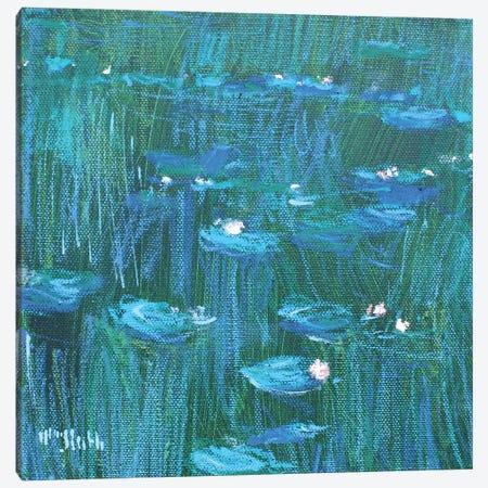 Giverny Green Canvas Print #WSL196} by Wayne Sleeth Canvas Print