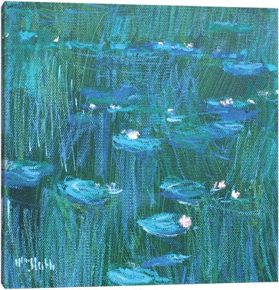Giverny Green Canvas Art Print