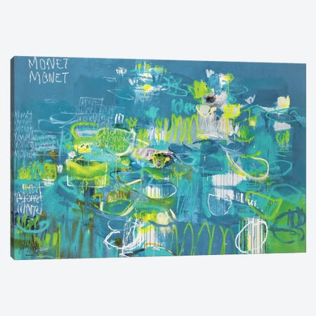 Monet Monet Monet (Gauche) Canvas Print #WSL215} by Wayne Sleeth Canvas Artwork