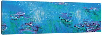 Giverny, Fluorescent Blue Canvas Art Print