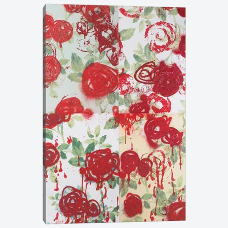 My English Rose Garden Canvas Print #WSL2} by Wayne Sleeth Canvas Artwork