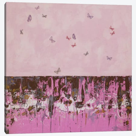 Butterflies & Bones No. 2 Canvas Print #WSL37} by Wayne Sleeth Canvas Wall Art