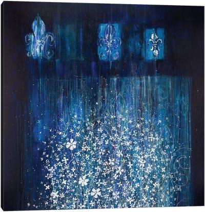 Broken Flowers Series: Night Garden Canvas Print #WSL3