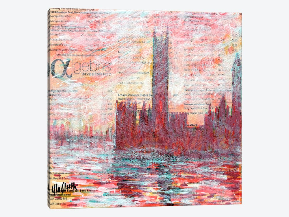 Westminster Red by Wayne Sleeth 1-piece Canvas Print