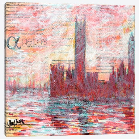 Westminster, Red Canvas Print #WSL83} by Wayne Sleeth Canvas Art