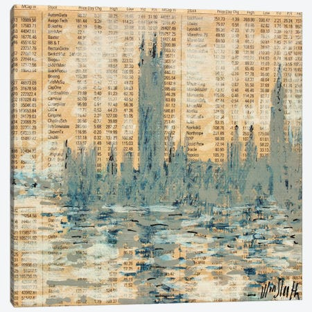 Westminster, Silver Canvas Print #WSL84} by Wayne Sleeth Art Print