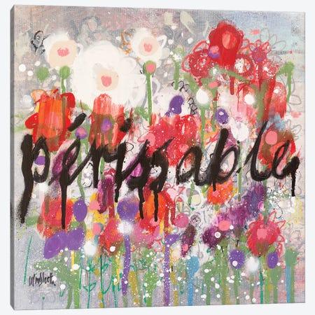 Broken Flowers (Perissable) Canvas Print #WSL87} by Wayne Sleeth Art Print
