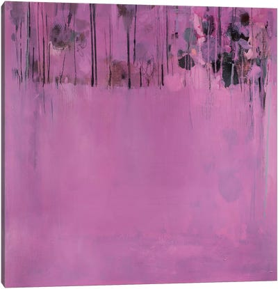 Composition In Pink Canvas Art Print