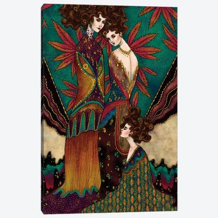 Klimt Muses I Canvas Print #WSM12} by Wassermoth Canvas Artwork