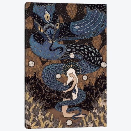 Kundalini Canvas Print #WSM16} by Wassermoth Art Print