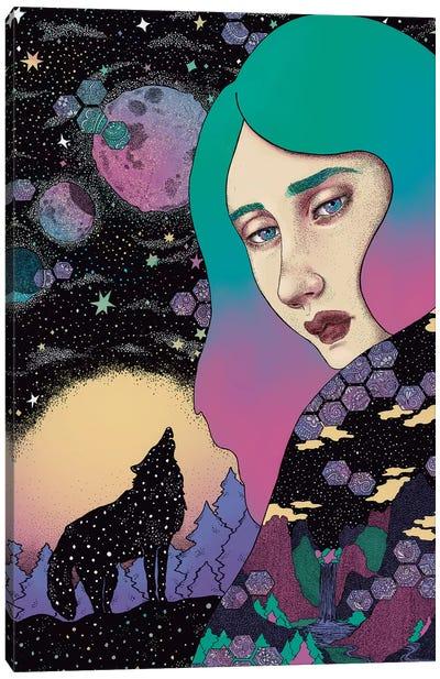 Midnight Wolf Canvas Art Print
