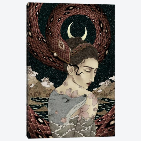Serenity Of Chaos Canvas Print #WSM25} by Wassermoth Canvas Artwork