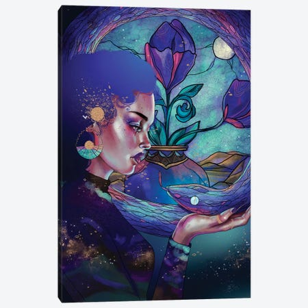 Zafiro Canvas Print #WSM27} by Wassermoth Canvas Artwork