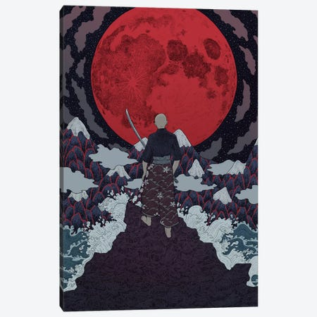 Bushido Canvas Print #WSM2} by Wassermoth Art Print