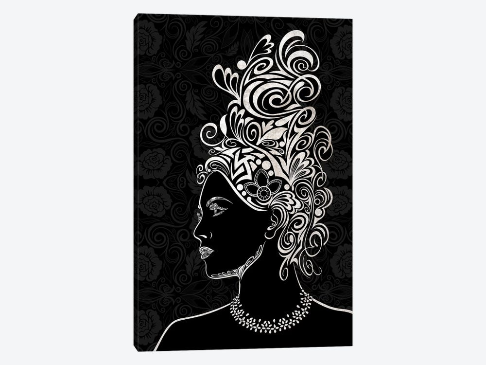 Beauty & Grace in Black & White by 5by5collective 1-piece Canvas Wall Art