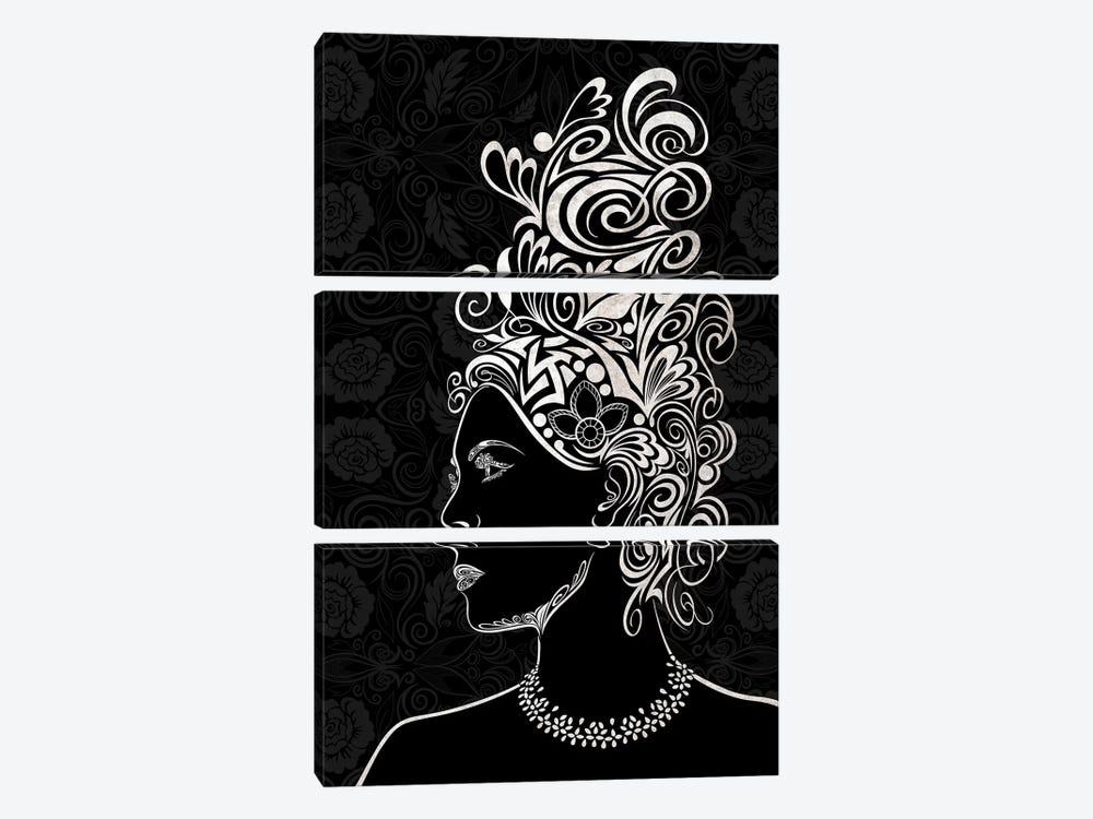 Beauty & Grace in Black & White by 5by5collective 3-piece Canvas Wall Art