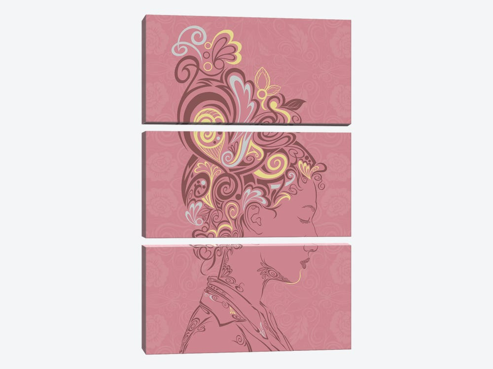 Spring Blossoms by 5by5collective 3-piece Canvas Print