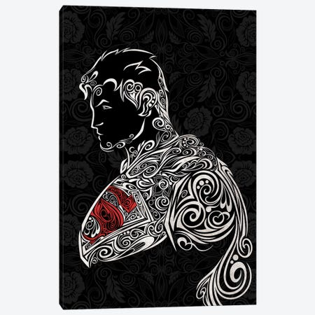 The Man of Carbon Steel in Black Canvas Print #WSS8} by 5by5collective Canvas Wall Art