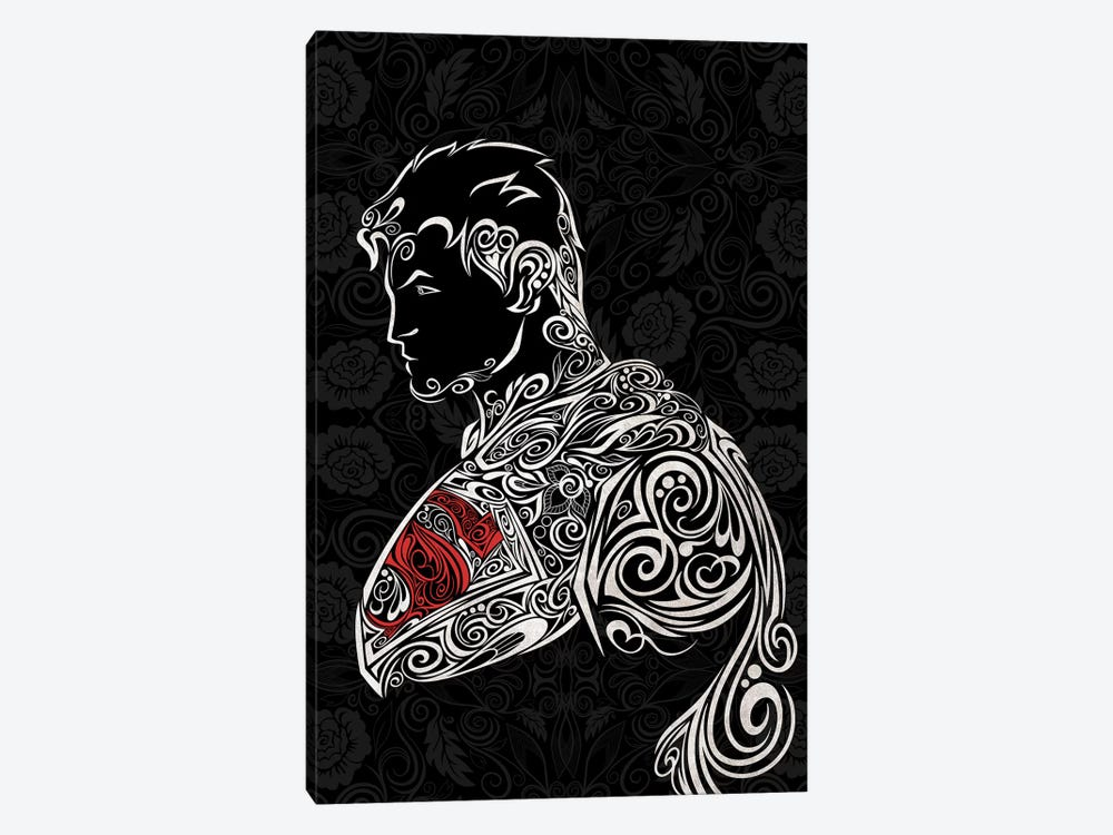 The Man of Carbon Steel in Black by 5by5collective 1-piece Canvas Art Print