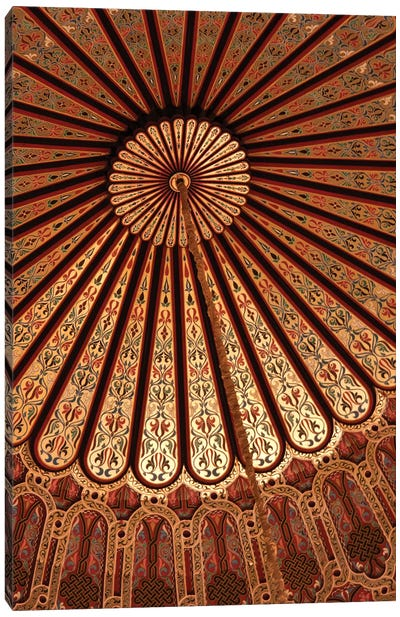 Vaulted Ceiling, Hassan II Mosque, Casablanca, Morocco Canvas Art Print