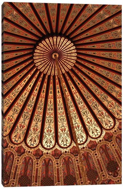 Vaulted Ceiling, Hassan II Mosque, Casablanca, Morocco Canvas Art Print