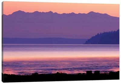 Pastel Sunset Over Puget Sound, Washington, USA Canvas Art Print